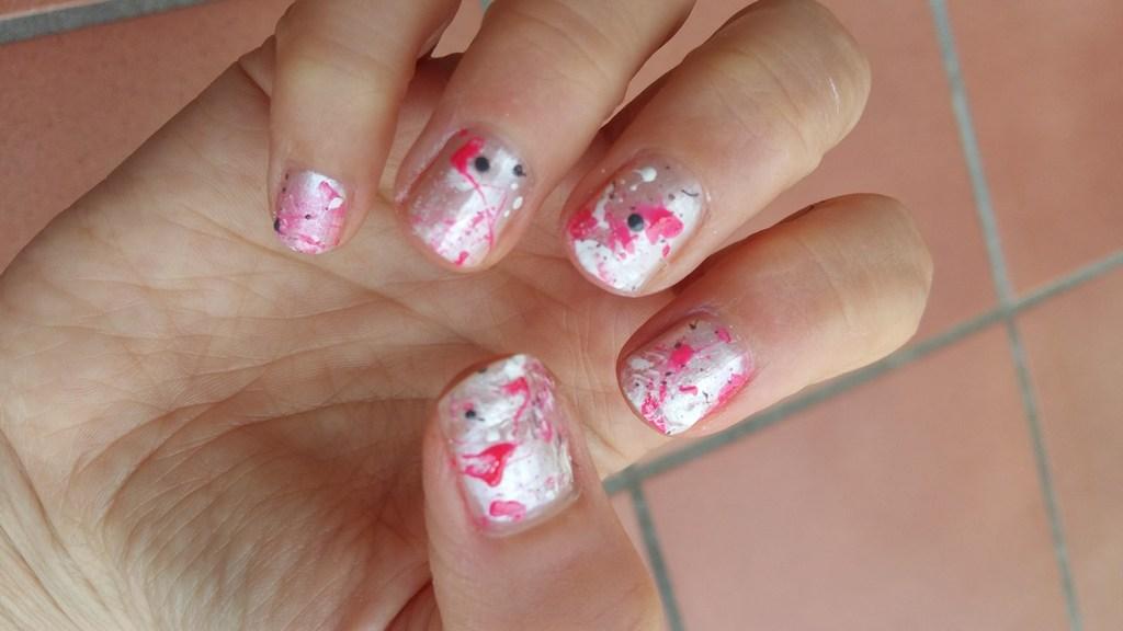 Nail art splatter 3