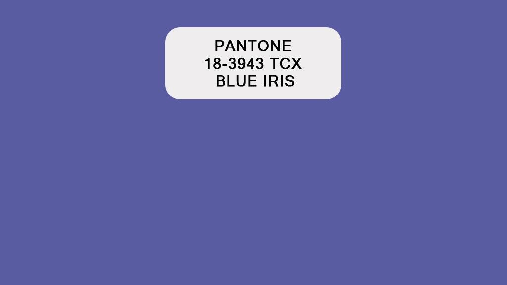 Pantone Blue Iris