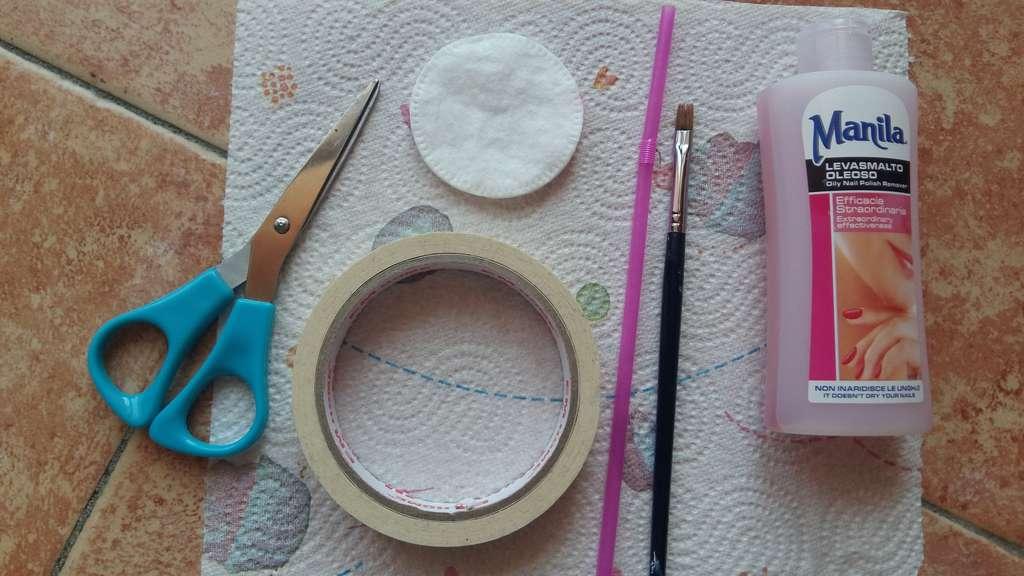 nail art splatter occorrente