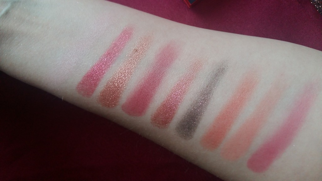 2019-01 Huda Beauty Ruby Obsessions swatches