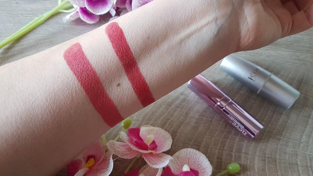 Kiko 222 e Neve Pink Donut lipstick
