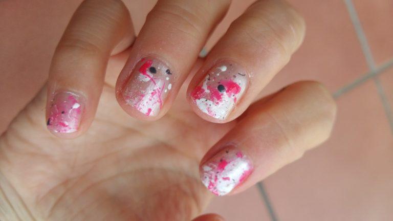 Nail art splatter 1