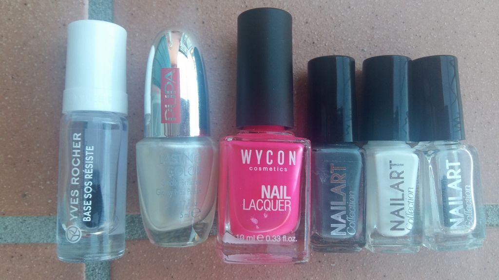 smalti splatter nail art