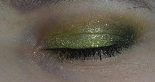 trucco verde occhio 4